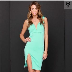 Lulus Tidbit Vivacious Mint Dress